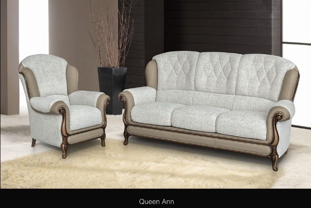 Queen Anne Cow Leather